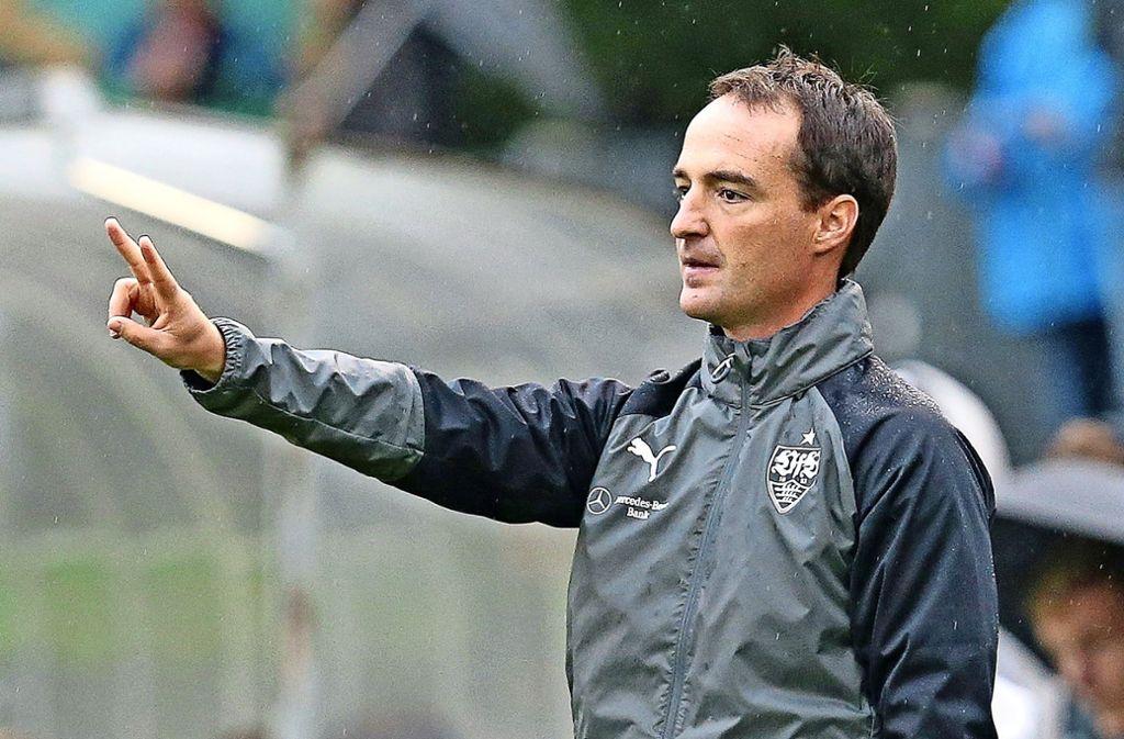 Wechselt wohl von den B- zu den A-Junioren des VfB Stuttgart: Trainer Nico Willig Foto: Baumann