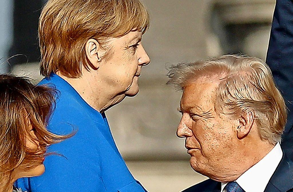 Der Streit um die neue Pipeline belastet das Verhältnis von Merkel und Trump. Foto: AP