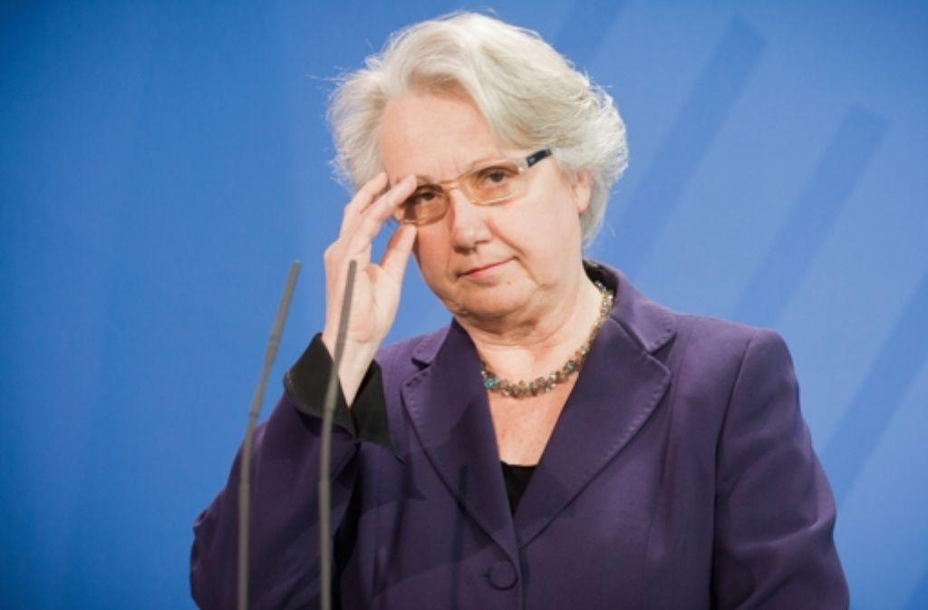 Annette Schavan soll Botschafterin beim Vatikan werden; ihr Bundestagsmandat, das sie im Wahlkreis Ulm errungen hat,  gibt sie auf. Foto: dpa