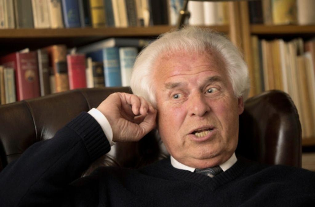Noch immer unbequem: der engagierte Konservative Rolf Thieringer Foto: Achim Zweygarth