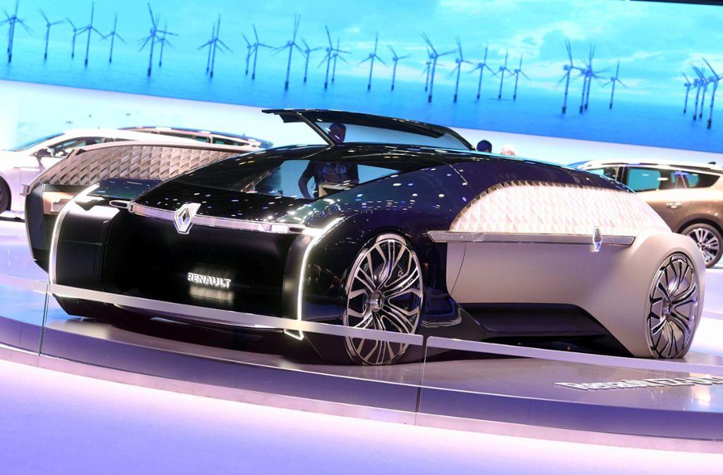 Beim Genfer Autosalon präsentiert Renault die autonom fahrende Elektrostudie EZ-Ultimo. Foto: dpa
