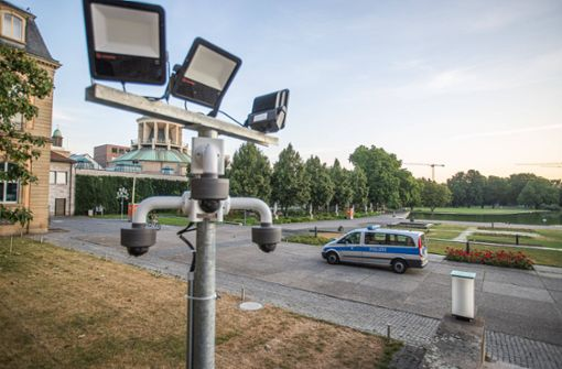 Kameras am Neuen Schloss aktiv