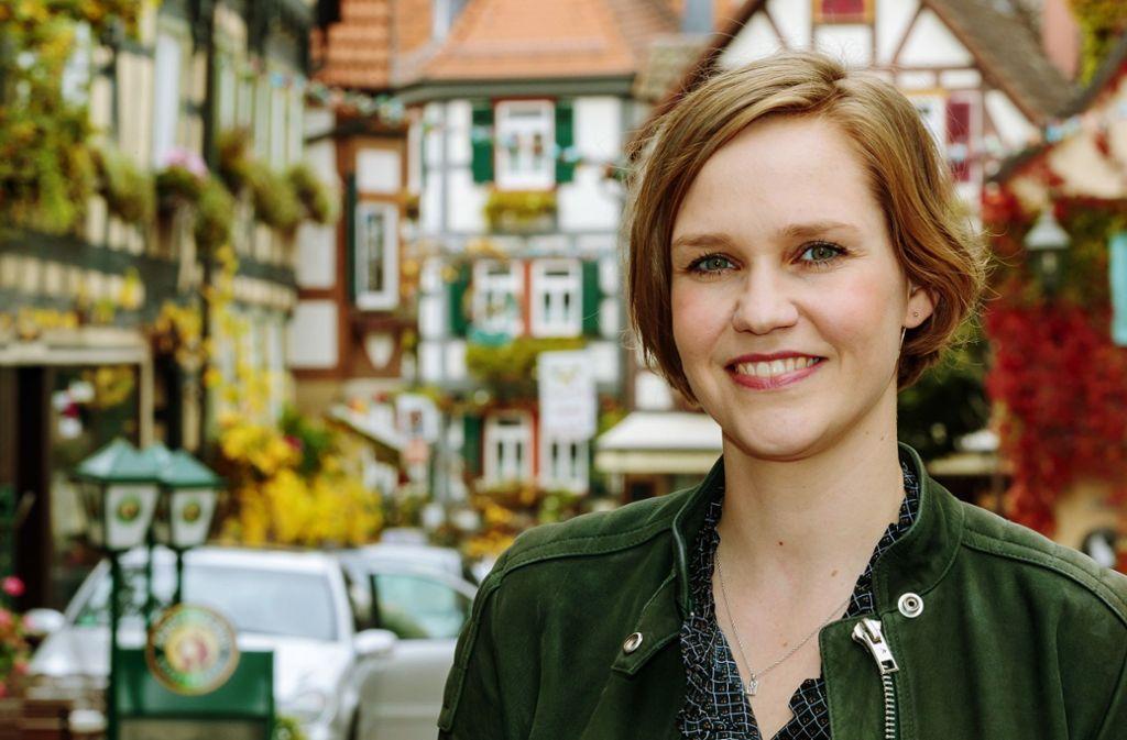 """Die Produzentin Kathrin Tabler lebt zwar in Berlin, kommt aber mehrmals im Jahr nach Besigheim, um ihre Eltern zu besuchen –  """"und weil ich gerne hier bin"""". Foto: / Helmut Pangerl"""