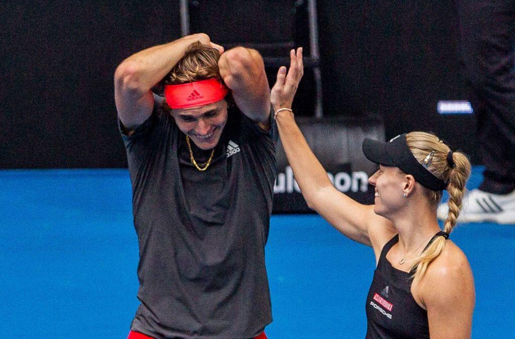 Alexander Zverev spielt beim Hopman Cup zusammen mit Wimbledon-Siegerin Angelique Kerber. Foto: dpa