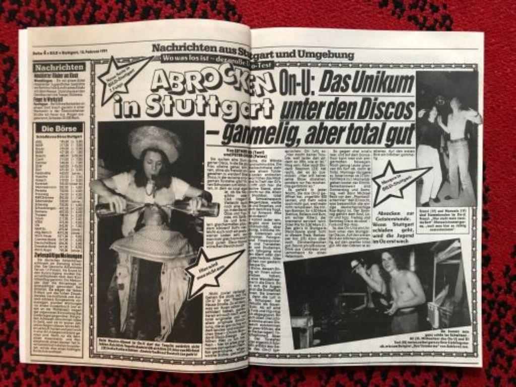 Die Zeitung mit den vier Buchstaben über Alexanders ersten Club ON-U. Foto: privat