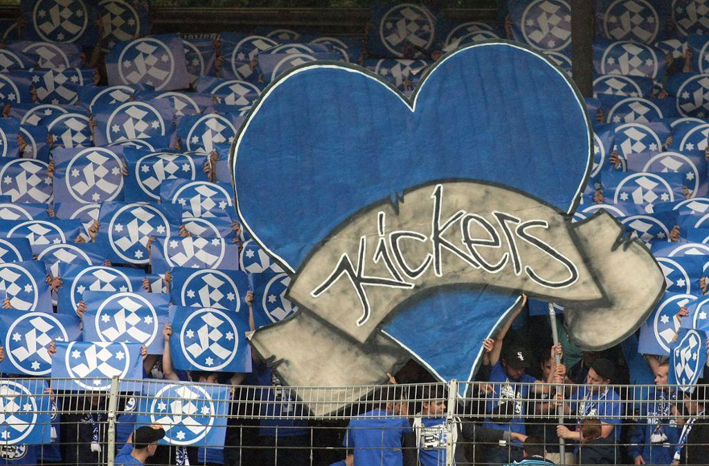 Ein Herz für die Kickers? Zuletzt kamen nur noch 1810 Zuschauer ins Gazi-Stadion. Foto: Baumann