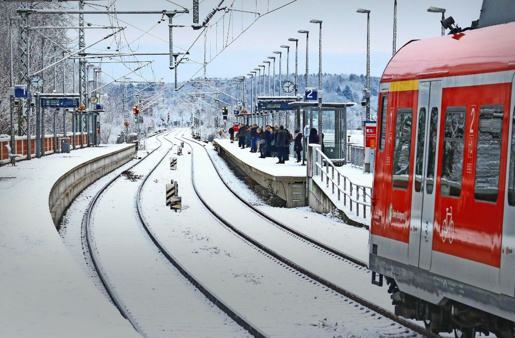 Nach dem Bahnhof Renningen-Malmsheim  endet die zweigleisigen Strecke, danach geht es einspurig in Richtung Weil der Stadt – was Probleme bereiten könnte. Foto: factum/Granville