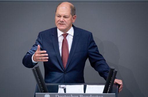 Scholz will 2018 alle Maastricht-Kriterien         erfüllen