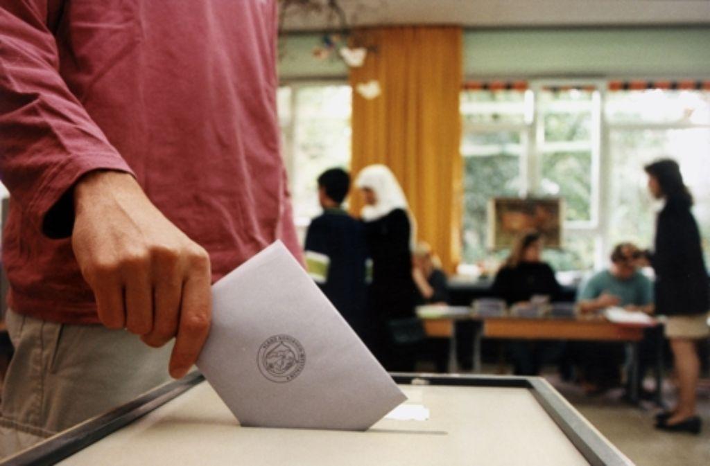 Bei der Kommunalwahl sind Foto: dpa