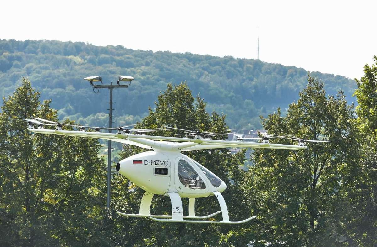 Solch Volocopter könnte bald für die Luftrettung eingesetzt werden. (Symbolbild) Foto: Lichtgut/Max Kovalenko