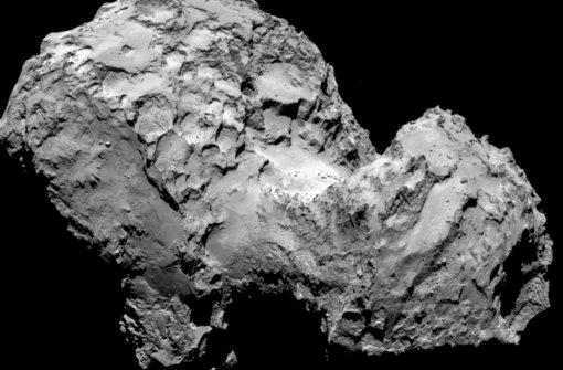 Der Komet 67P/Tschurjumow-Gerassimenko, aufgenommen von der Raumsonde Rosetta, kurz bevor sie den Brocken am 6. August erreichte Foto: Esa/MPS
