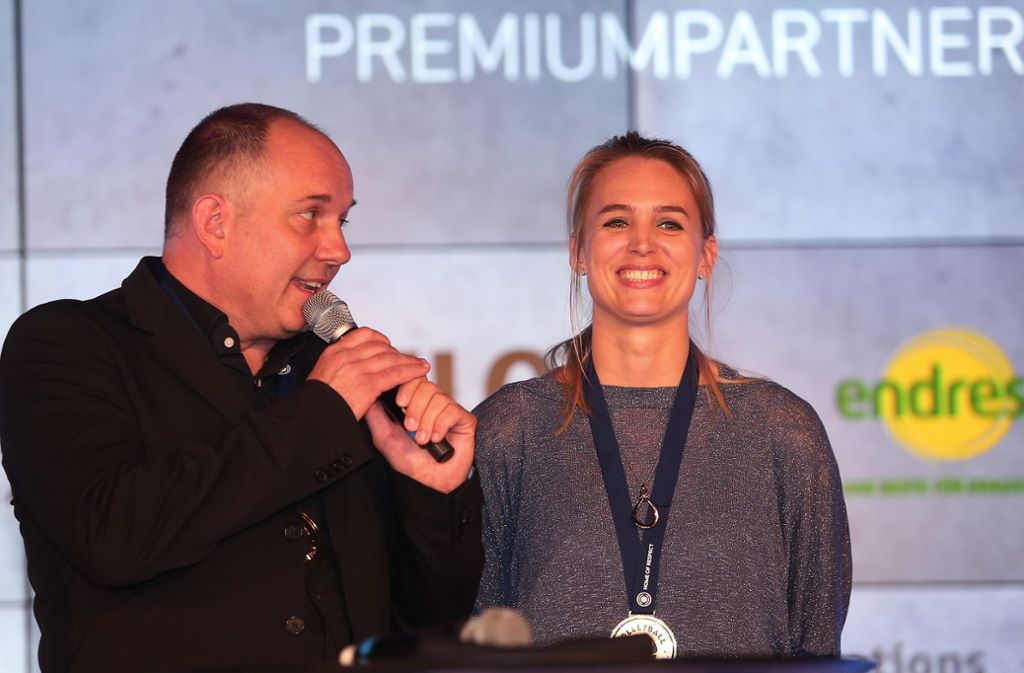 Basteln gemeinsam an der Zukunft von Allianz MTV Stuttgart: Aurel Irion und Kim Renkema Foto: Baumann