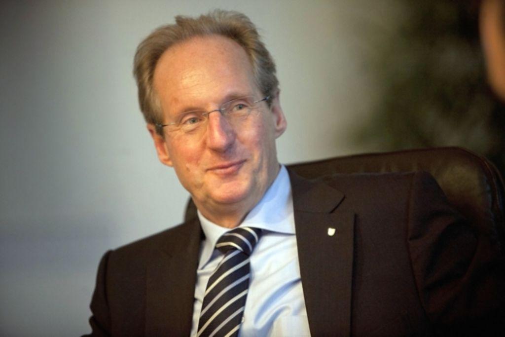 Seit Montag ist klar, dass Wolfgang Schuster nicht noch einmal für den Posten des Oberbürgermeisters kandidieren möchte. Foto: Steinert