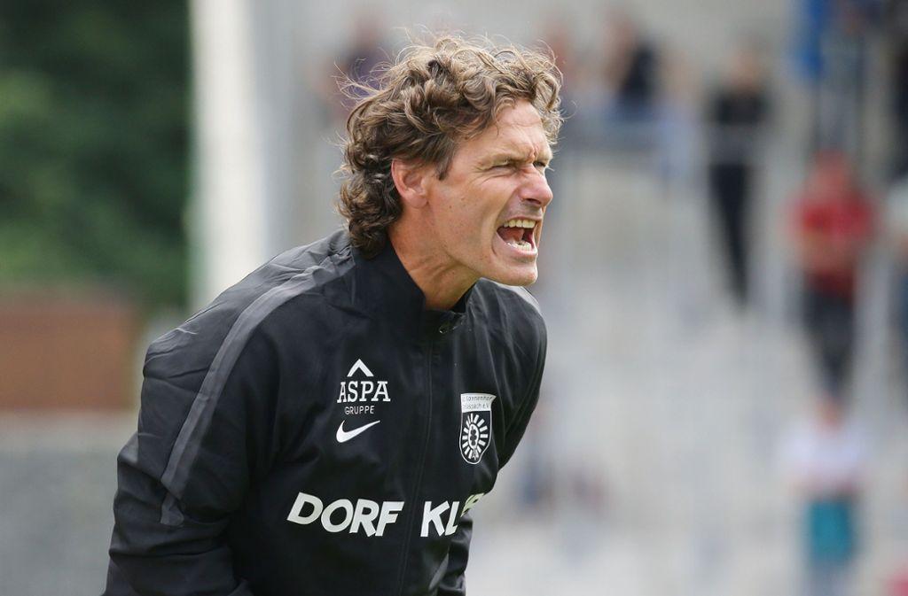 Sonnenhof Großaspach trennt sich von Trainer Oliver Zapel. Foto: Pressefoto Baumann/Hansjürgen Britsch