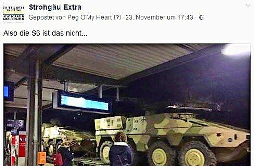 Panzerfahrzeuge auf dem Weg nach  irgendwo