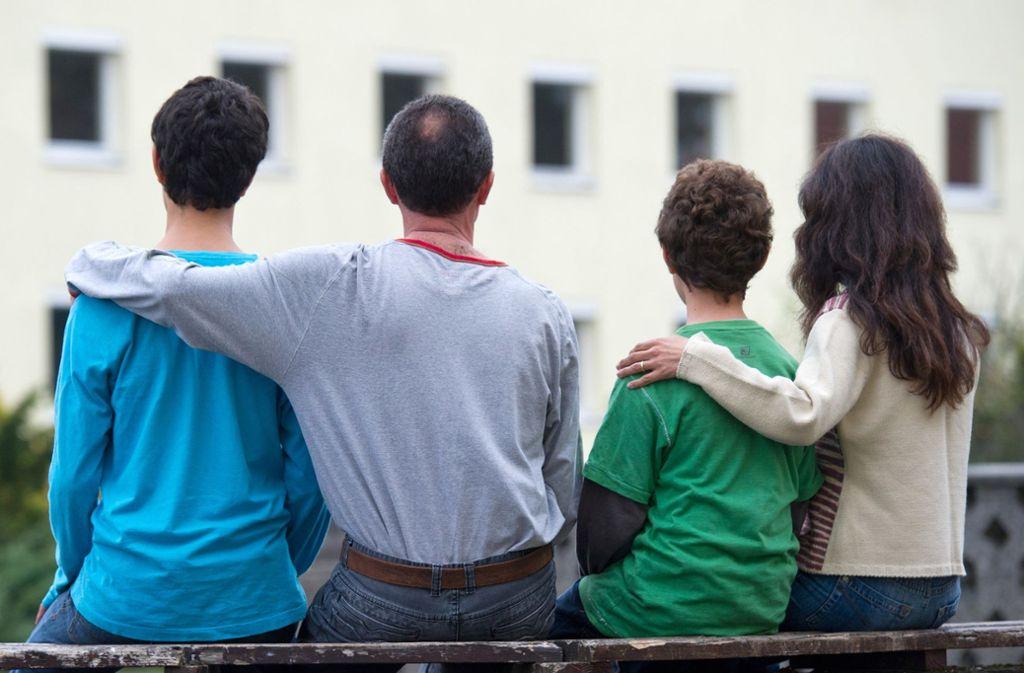 Eine syrische Flüchtlingsfamilie Foto: dpa/Patrick Pleul