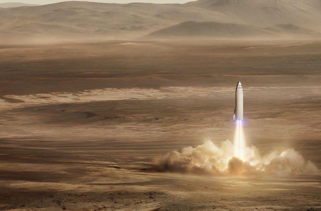 """Mit der """"Big Fucking Rocket"""" soll es ab 2024 zum Mars gehen. Foto: Press Association Images"""
