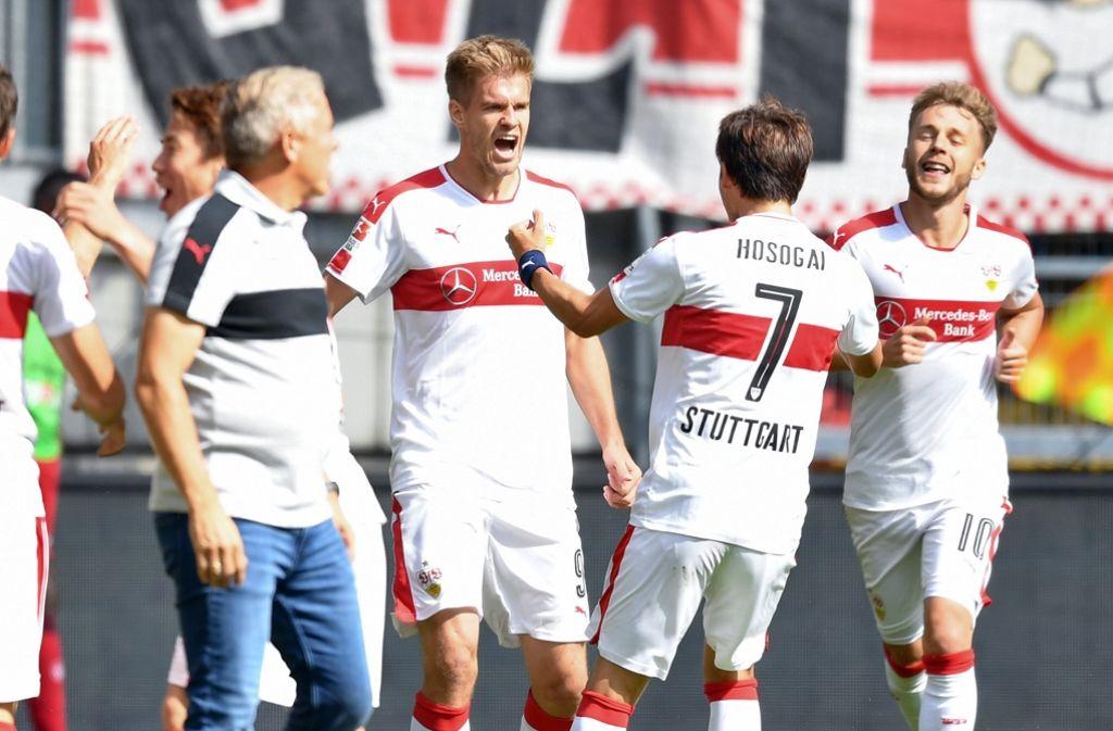 Der VfB Stuttgart ist nach dem Rücktritt von Jos Luhukay ergebnismäßig wieder in der Erfolgsspur. Foto: dpa
