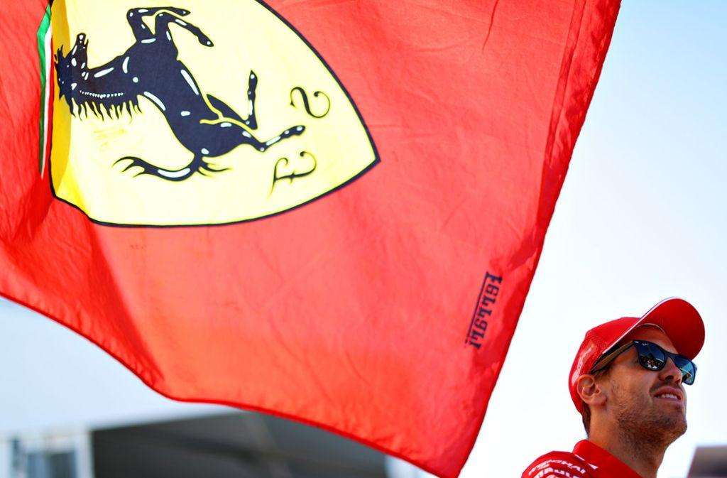 Noch ist die WM für Sebastian Vettel und Ferrari nicht ganz  verloren. Foto: AFP
