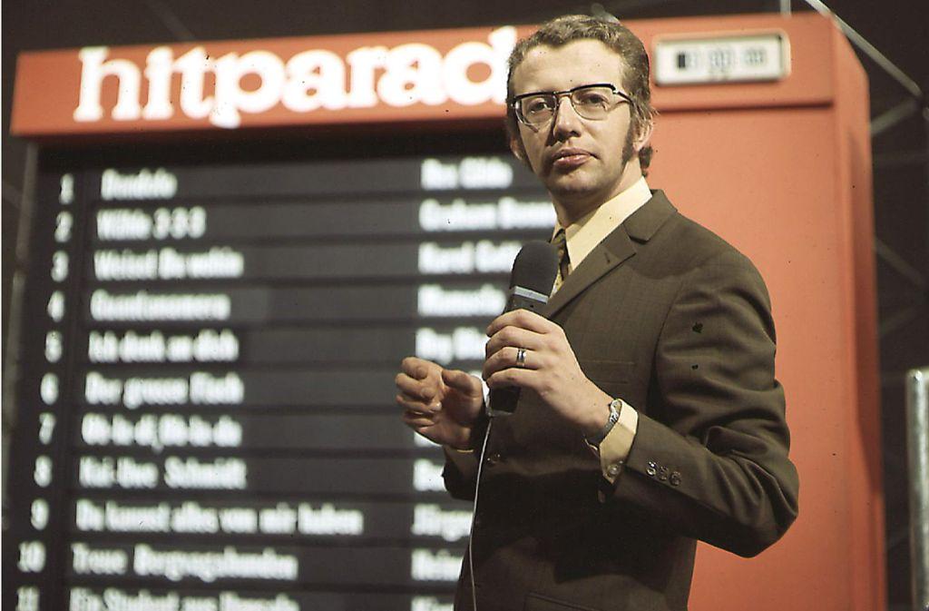 """Die """"ZDF-Hitparade"""" war seine Erfindung: Moderator Dieter Thomas Heck Foto: ZDF"""
