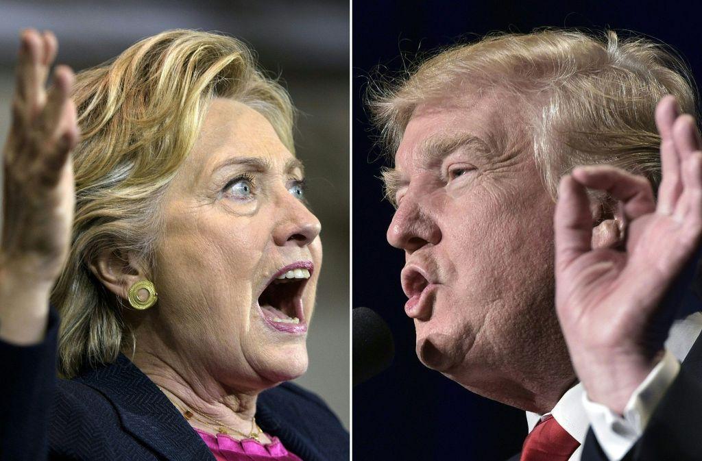 Im vergangenen Präsidentschaftswahlkampf haben sich Hillary Clinton und Donald Trump nichts geschenkt. Foto: AFP