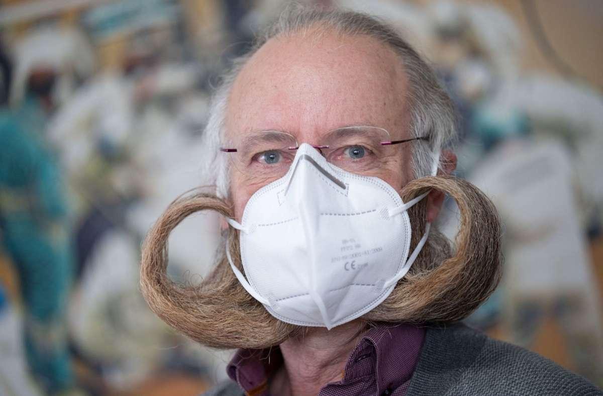 Jürgen Burkhardt ist passionierter Bartträger. Foto: dpa/Marijan Murat