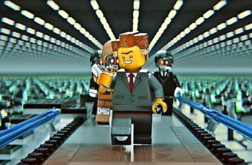 Der jovial tuende Präsident Business schreitet forsch in eine Zukunft, in der sich nichts mehr gegen seinen Willen regen kann. Foto: Warner Bros.