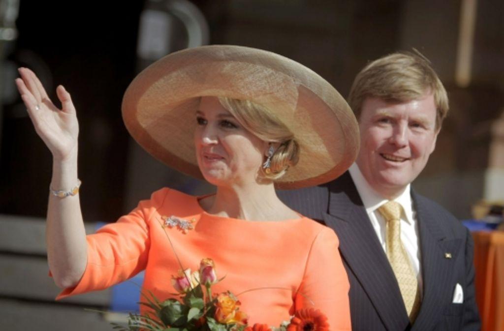 Der Besuch von Maxima und Willem-Alexander Foto: dpa