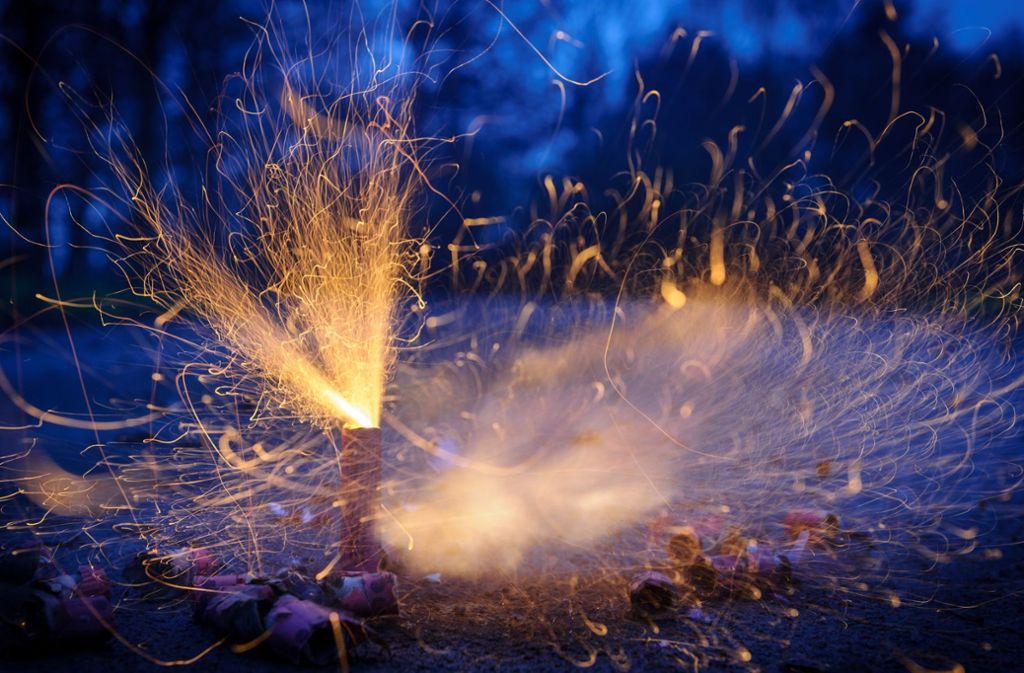 Der Feuerwerkskörper geriet versehentlich in die Hecke des Nachbarn (Symbolbild). Foto: dpa/Tobias Kleinschmidt