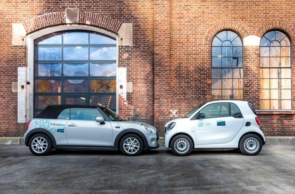 BMW und Daimler machen bei ihren Carsharing-Angeboten gemeinsame Sache. Foto: SHARE NOW