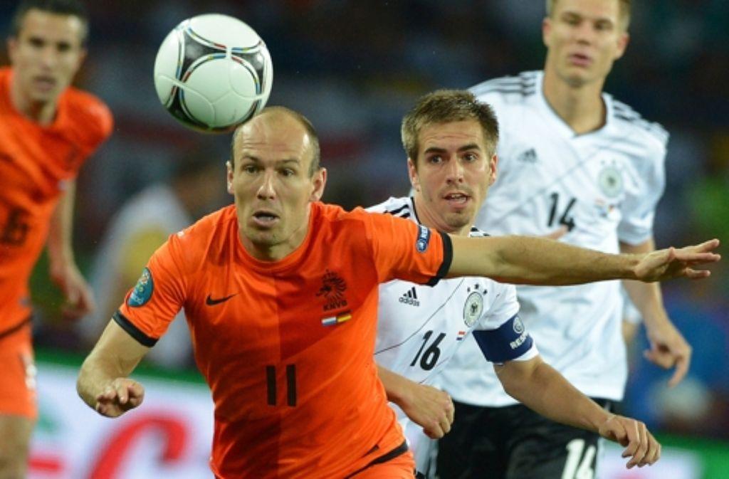Deutschland und die Niederlande werden sich künftig wohl auch in der Nationenliga begegnen. Foto: dpa