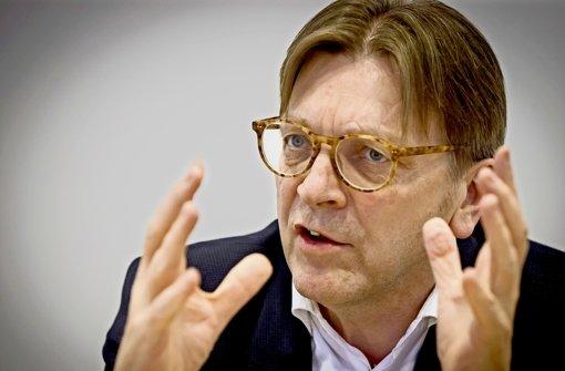 Guy Verhofstadt hält den Deal mit der Türkei für gefährlich. Foto: Lichtgut/Achim Zweygarth