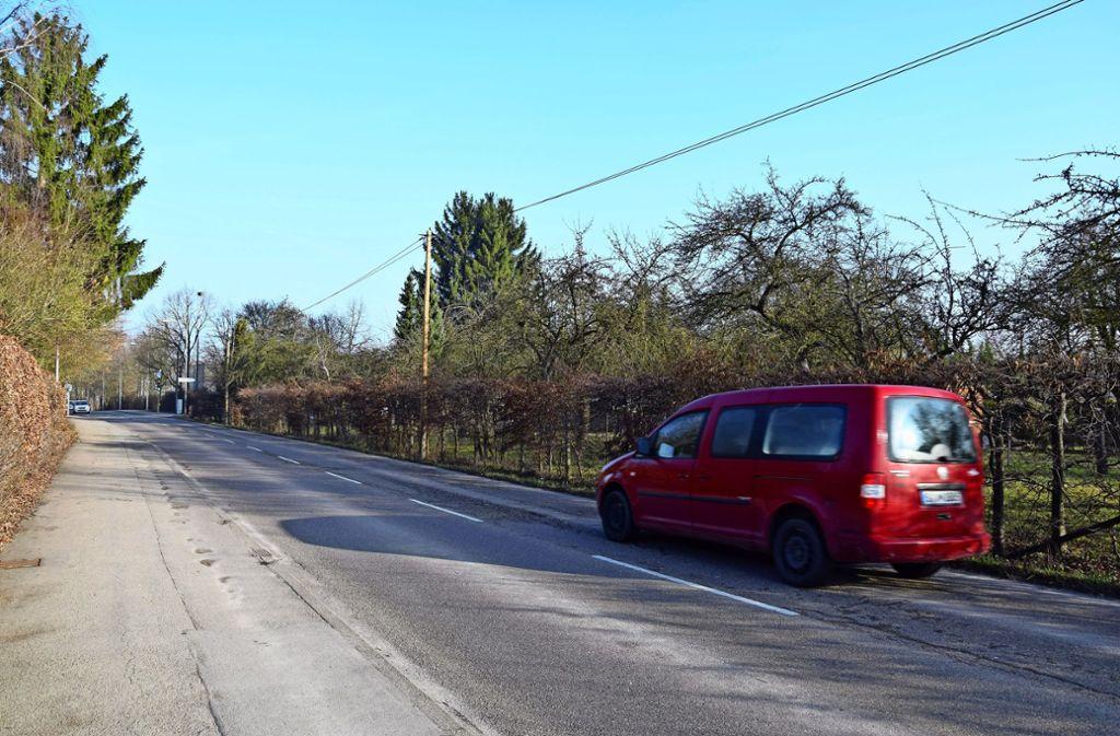 Seit Jahren ein Provisorium: Teile des Geh- und Radwegs an der Lohäckerstraße befinden sich auf Flächen, die den Landwirten gehören. Foto: Alexandra Kratz