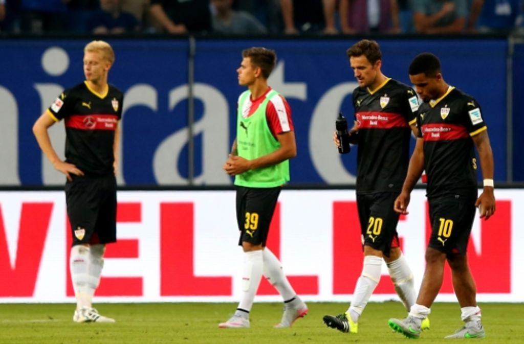 Nach der 2:3-Niederlage beim Hamburger SV steht den VfB-Spielern die Enttäuschung ins Gesicht geschrieben. Hier gibt es die Stimmen zum Spiel. Foto: Bongarts