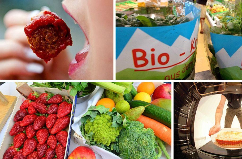 Fast Food, Fertiggerichte, Gemüse, Bio Food: Die Nahrungspalette der Deutschen ist vielfältig. Foto: dpa