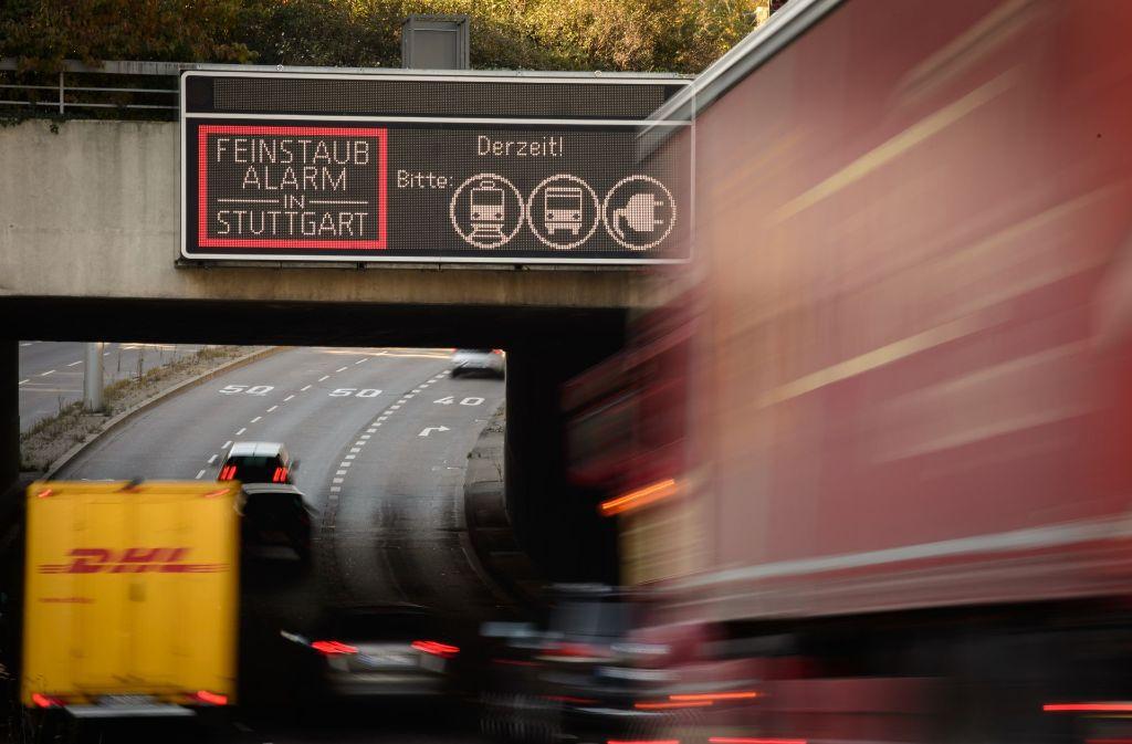 In Stuttgarter herrscht zurzeit wieder Feinstaubalarm. Foto: dpa
