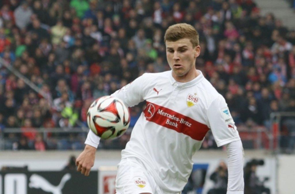 Timo Werner vom VfB Stuttgart will zur U19-EM. Genau wie... Foto: Pressefoto Baumann