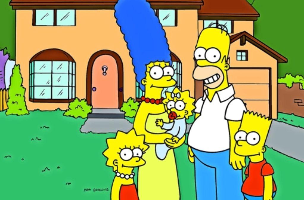 Einflussreiche Vorzeigefamilie: die Simpsons vor ihrem Eigenheim Foto: ProSieben