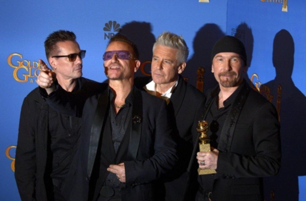 Die Rockband U2 erhält den Bambi in der Kategorie Musik International. Foto: dpa