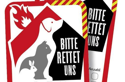 Ein Sticker soll Haustiere retten