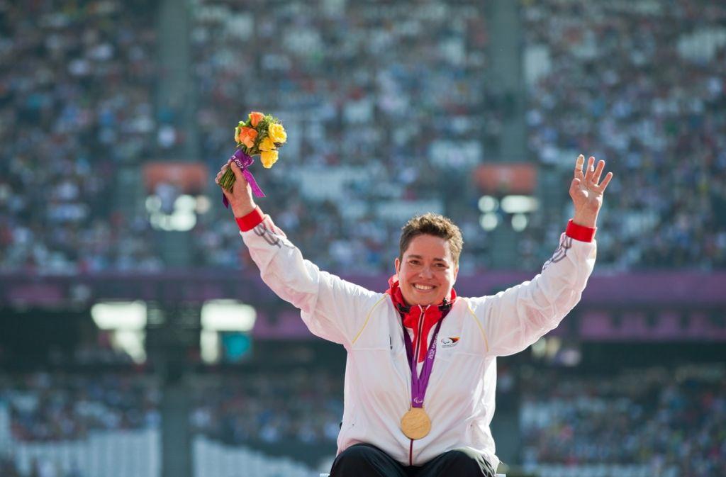 Birgit Kolber konnte beim Kugelstoßen ihren Erfolg von London 2012 in Rio wiederholen. Foto: dpa