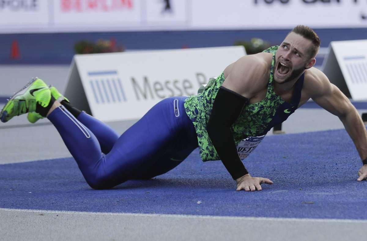 Johannes Vetter zeigte eine bärenstarke Leistung in Berlin. Foto: AP/Markus Schreiber