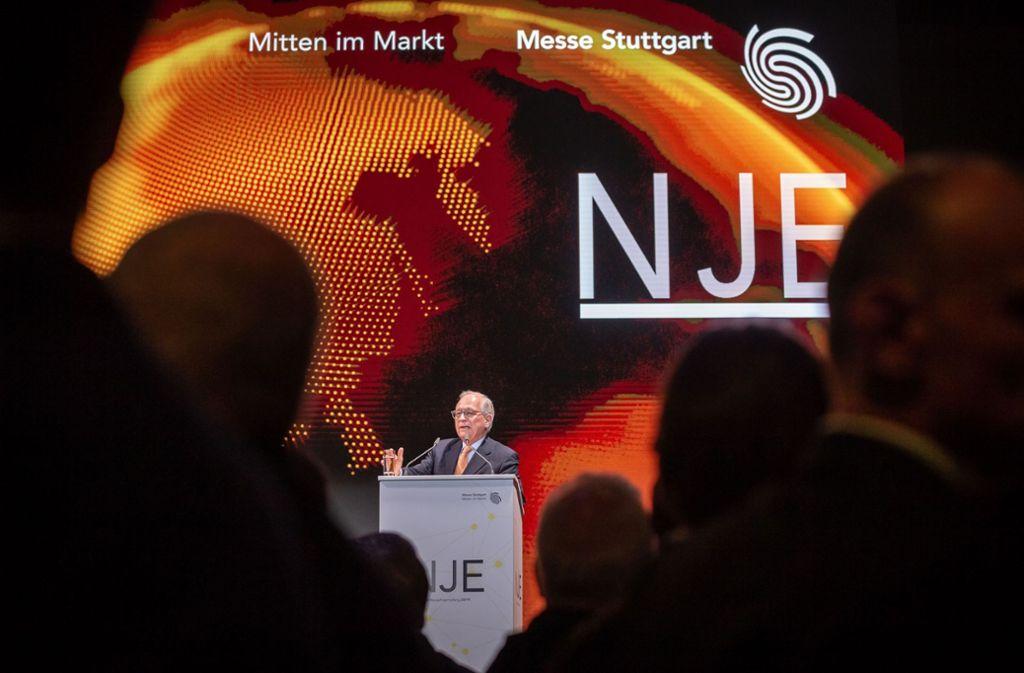 Der Diplomat Wolfgang Ischinger kam als Gastredner zum Neujahrsempfang der Messe Stuttgart. Foto: Lichtgut/Julian Rettig