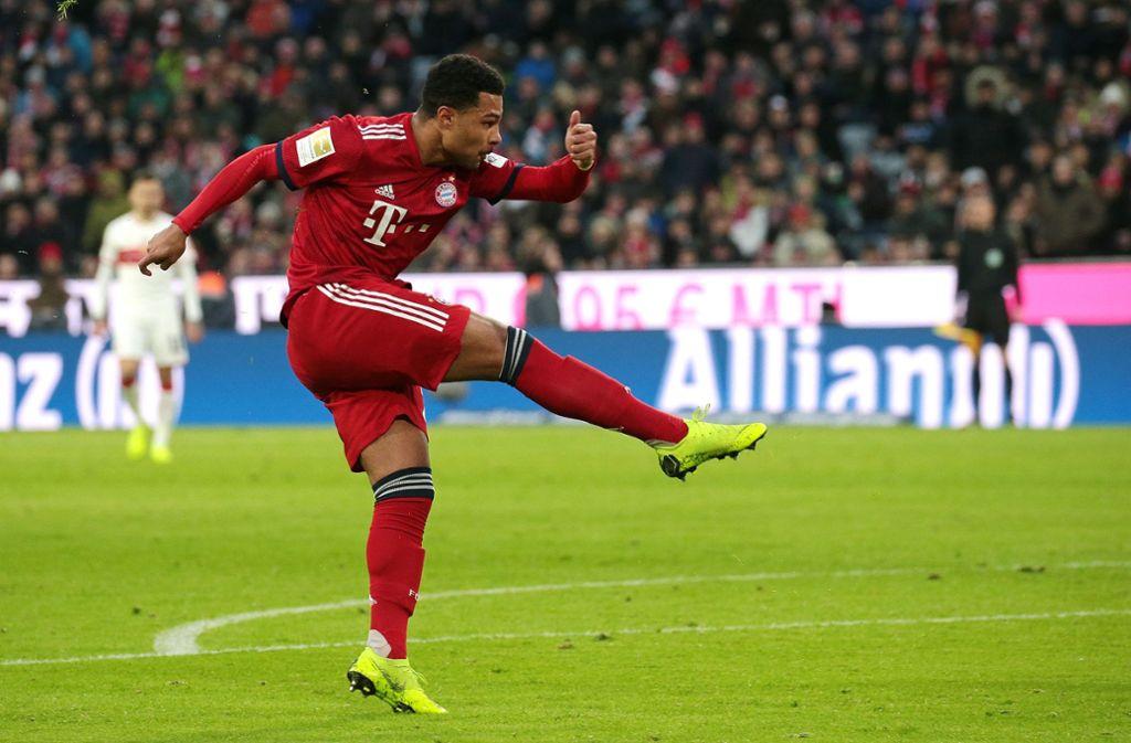Im Januar diesen Jahres trat der Münchner Serge Gnabry gegen seinen Jugendclub, den VfB Stuttgart, an. Foto: Pressefoto Baumann