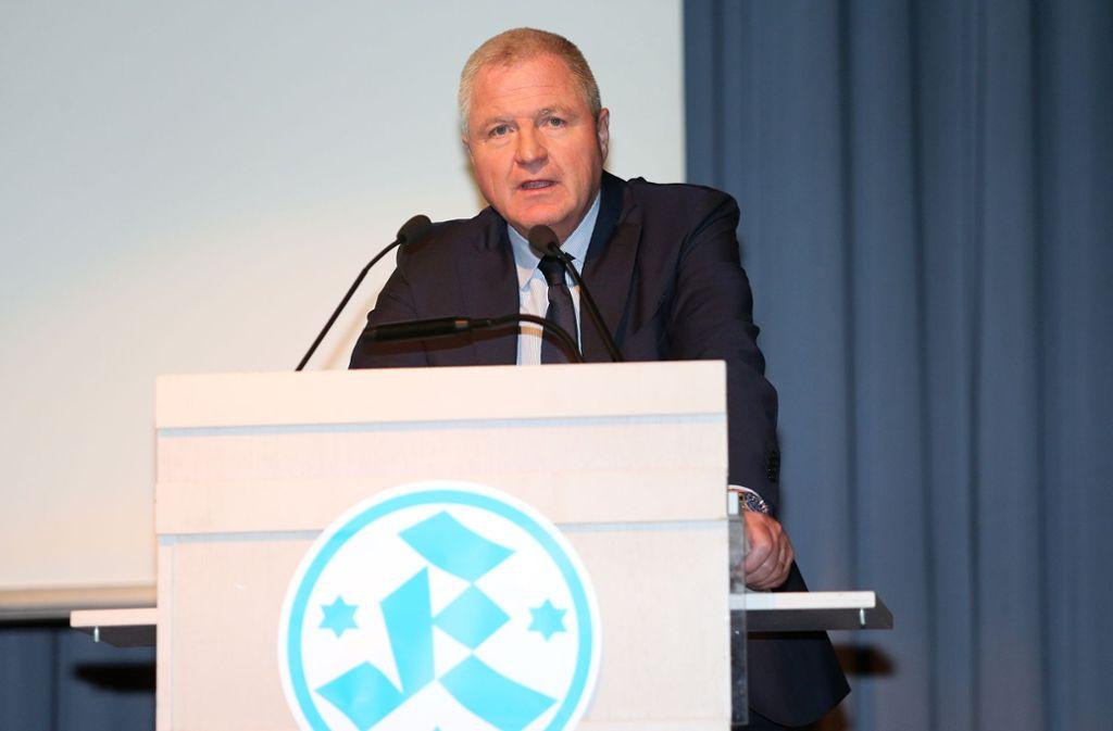 Seit 2010 Präsident der Stuttgarter Kickers: Rainer Lorz. Foto: Baumann