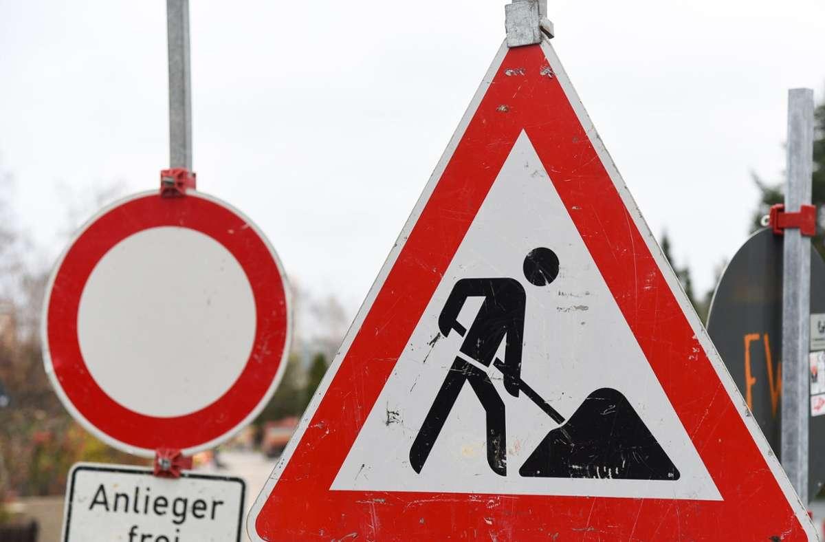 Die Talstraße wird bis Oktober abschnittsweise gesperrt. Foto: Kreiszeitung Böblinger Bote/Thomas Bischof