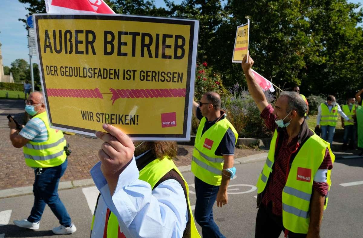 Busfahrer-Streik in Stuttgart Foto: LICHTGUT/Leif Piechowski/Leif Piechowski