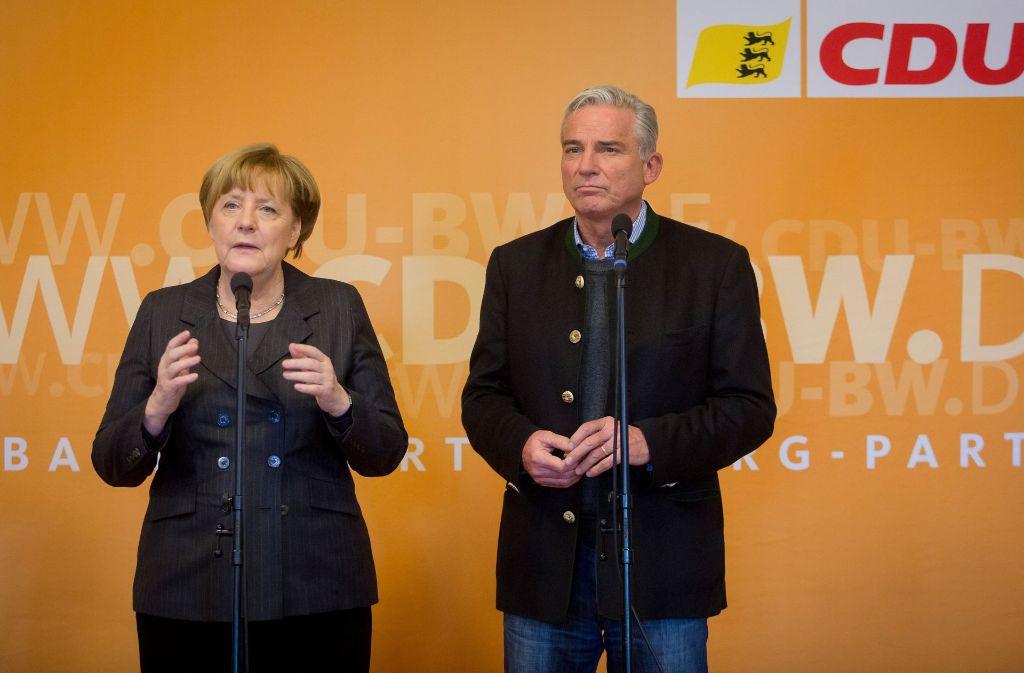 Auch Kanzlerin Merkel stattete der Klausurtagung einen Besuch ab. Foto: dpa