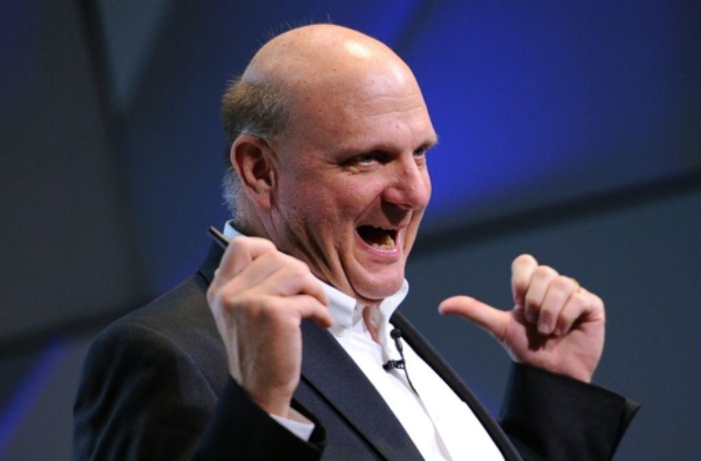 Steve Ballmer ist mittlerweile größter Microsoft-Einzelaktionär. Foto: dpa