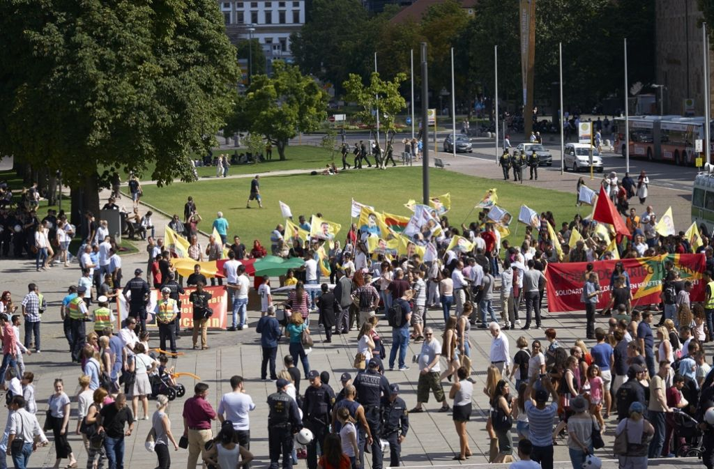 Kurden Demo Stuttgart